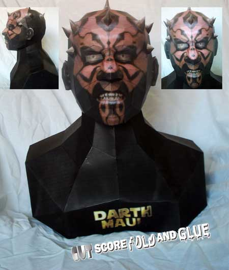 Star Wars Papercraft Darth Maul Bust
