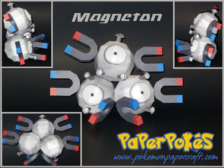 Pokemon Magnemite Magneton Papercraft
