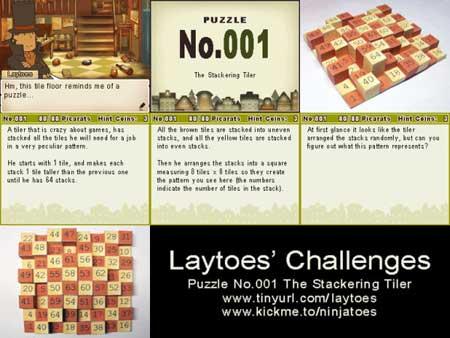 Professor Layton Tile Puzzle Papercraft