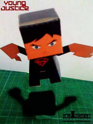 Crafty Collab Super Boy Paper Toy