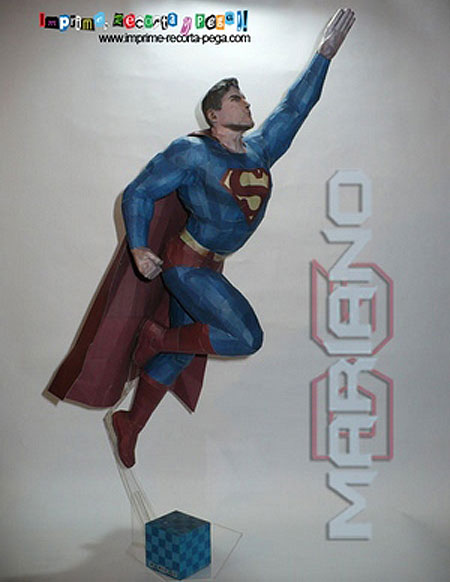 DC Universe Superman Papercraft