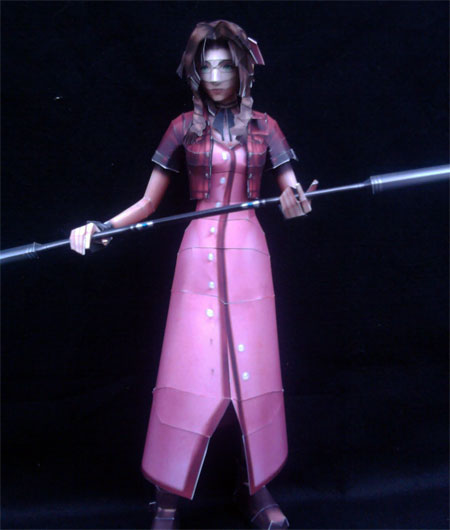 Dissidia 012 Final Fantasy Aerith Gainsborough Papercraft