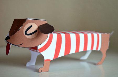 Dachshund Paper Toy