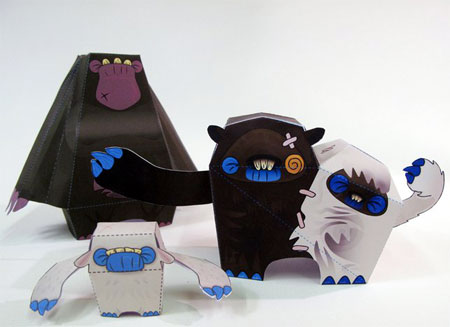 Siamese Monster Paper Toy