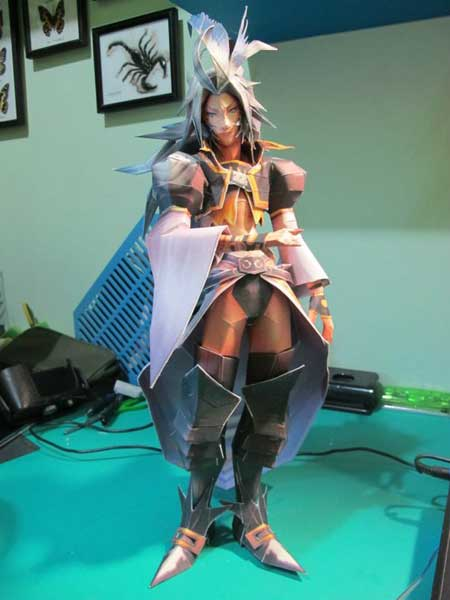 Dissidia Final Fantasy Kuja Papercraft