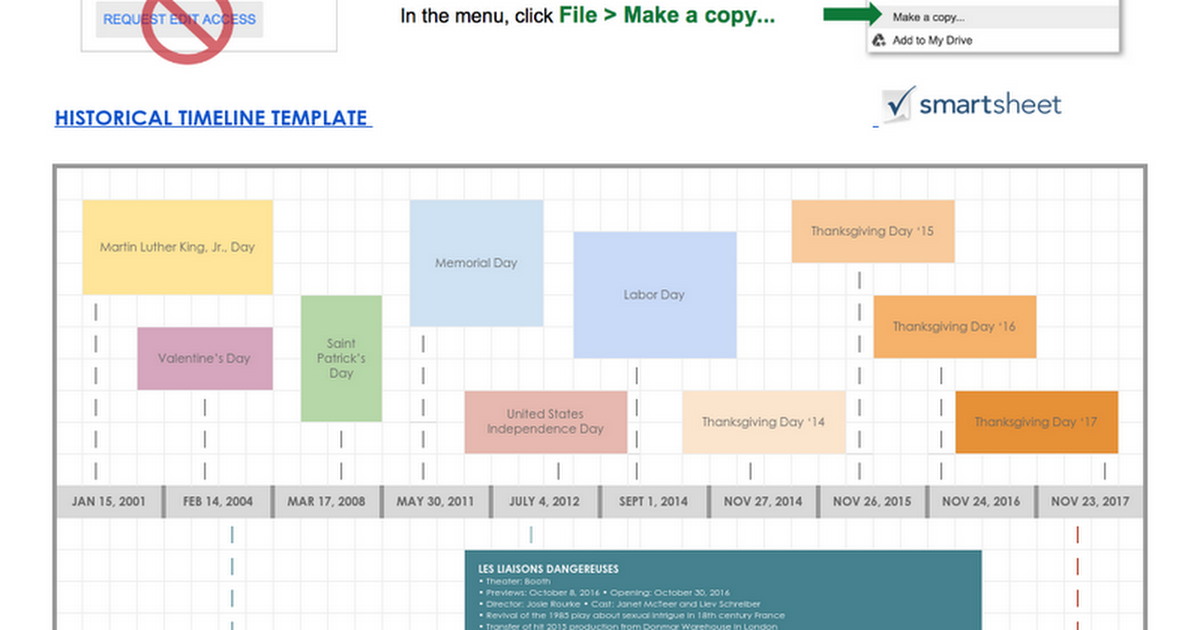 Historical Timeline Template Google Doc Google Docs - Google docs make a template