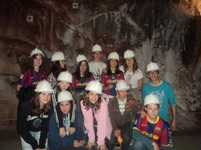 Visitant linterior de les mines de sal