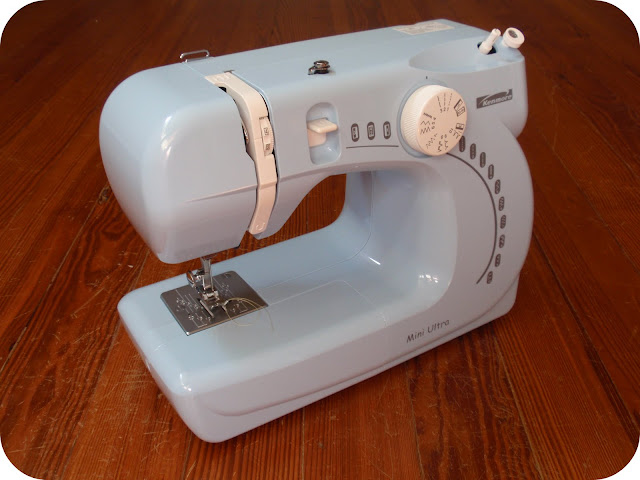 cute blue sewing machine