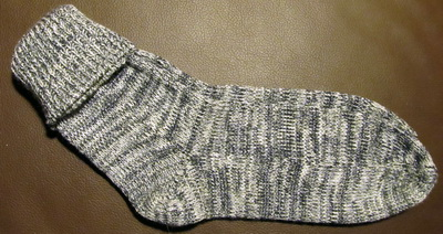 Socken auf Singer 600  Memo II