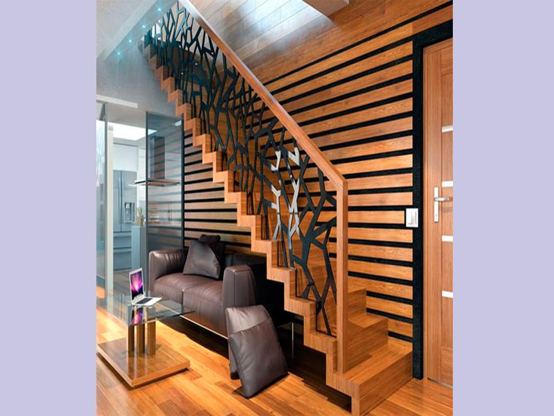 Bố trí cầu thang chiếm nhiều diện tích