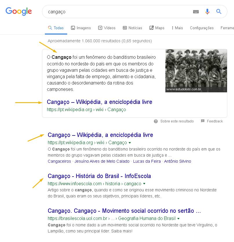 imagem ilustrativa sobre o ranking do google