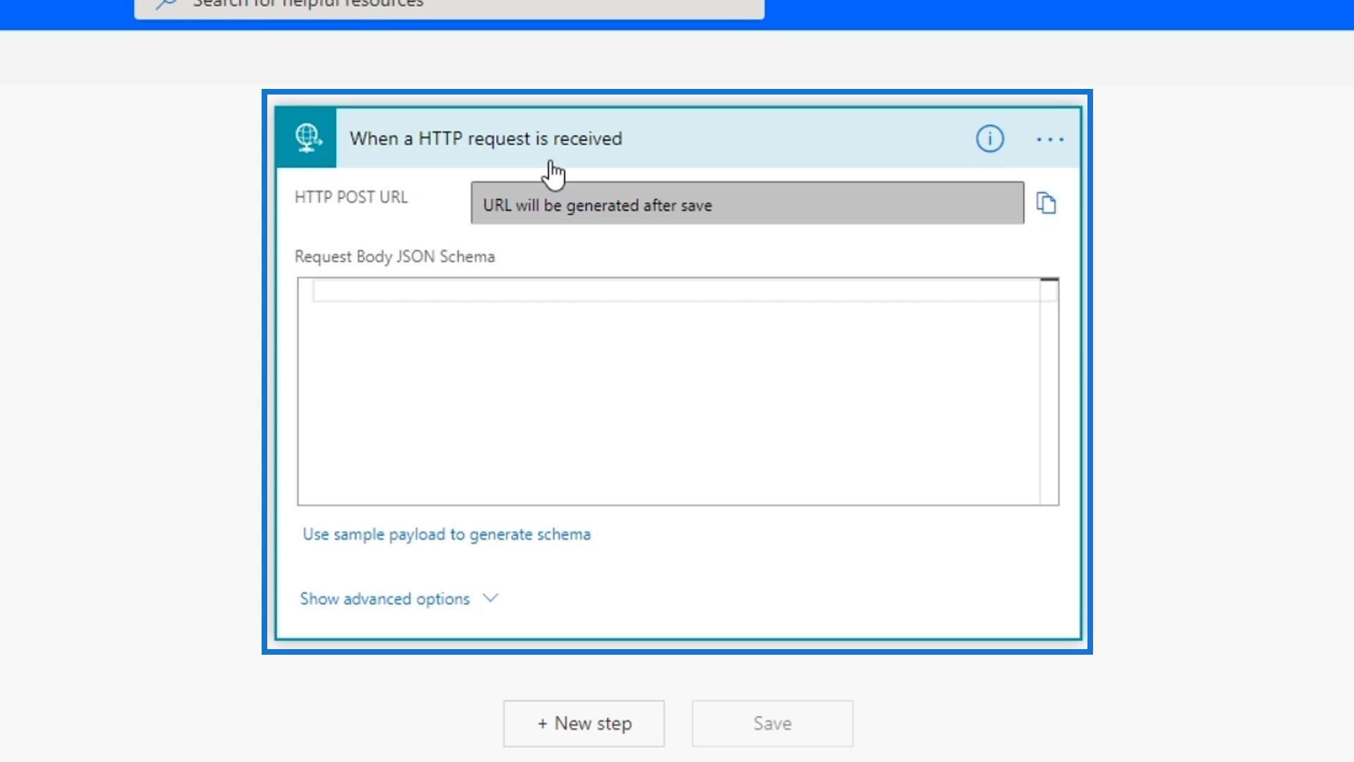 Microsoft Flow HTTP Trigger