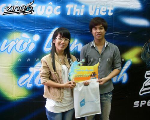 Zing Speed trao giải cuộc thi Người bạn đồng hành 3