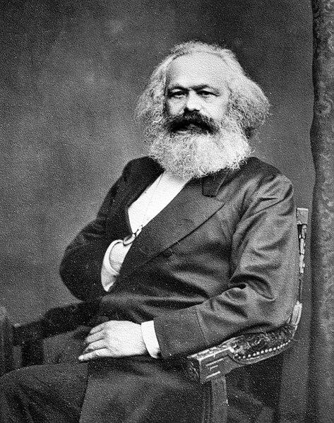 Photograph of Marx in maturity with his trademark bushy beard.