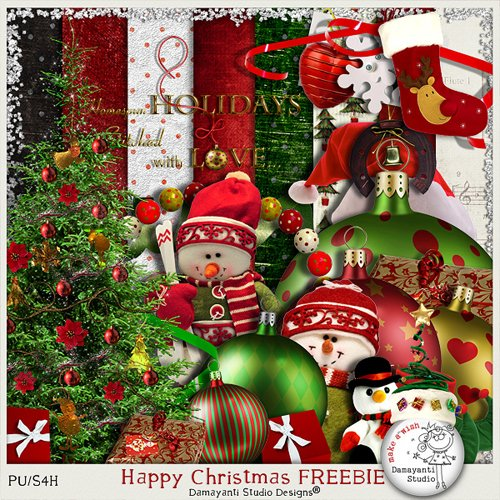 Скрап-набор - Счастливое Рождество