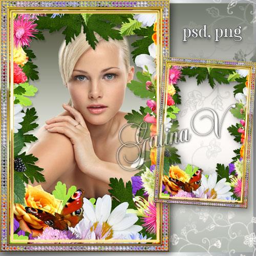 Рамка для фото - Цветочное вдохновение