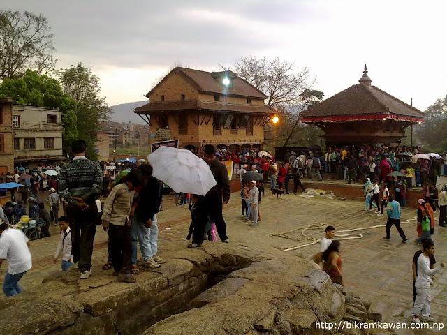 Bhadrakali during Bisket Jatra