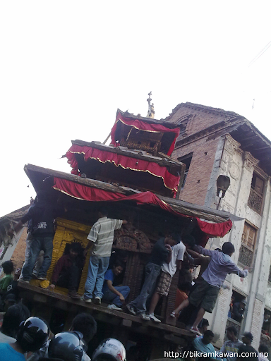Bhairav rath infront of Cafe