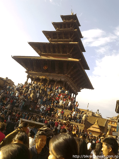 Nyatapola Temple Last Day of Bisket Jatra