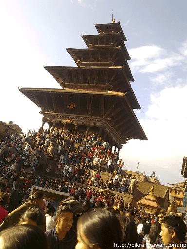 Nyatapola Temple Last Day of Bisket Jatra