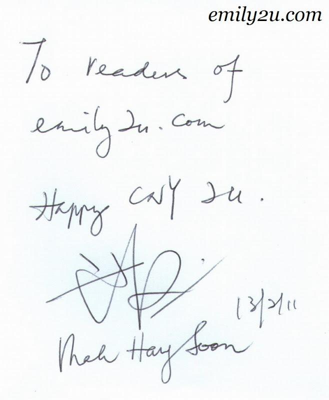 greetings from YB Dato' Dr Mah Hang Soon
