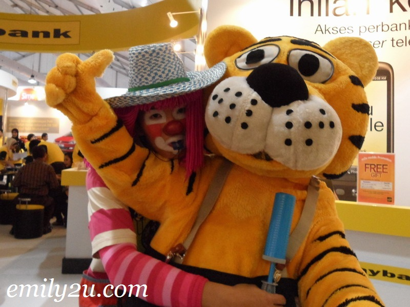 Maybank tiger mascot