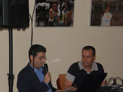 José Antonio Cabrera y Paco Naranjo en el acto de inauguración