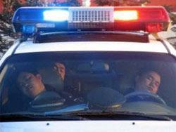 Politisti dorm in masina