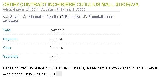 La mall?