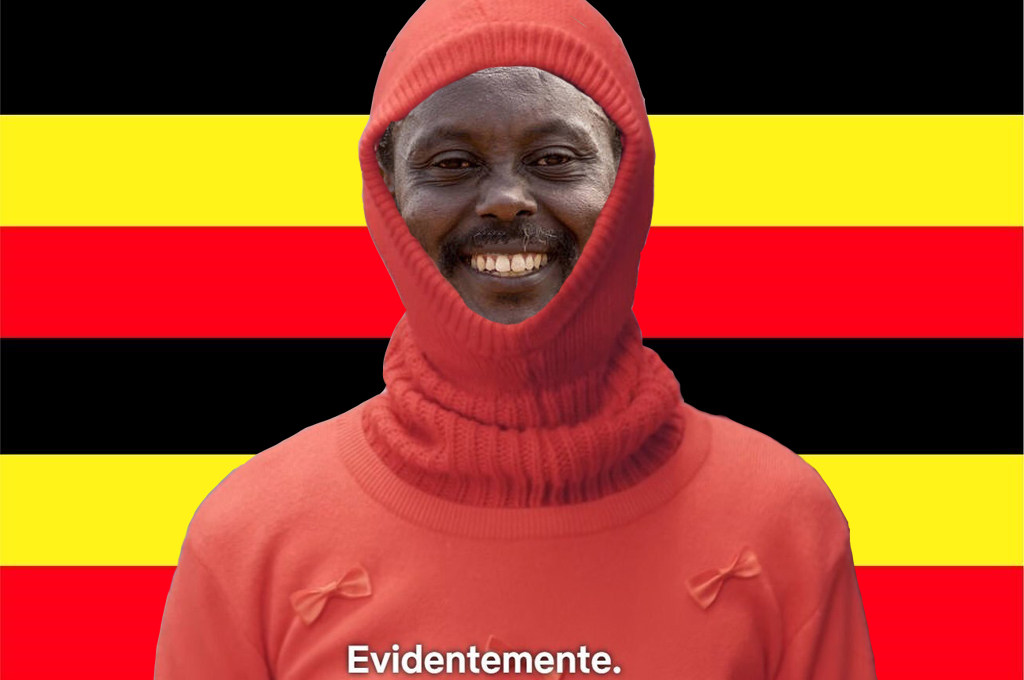 "El cineasta ugandés de Wakaliwood Nabwana IGG como Magüi Balenciaga en Paquita Salas: ""Evidentemente""."