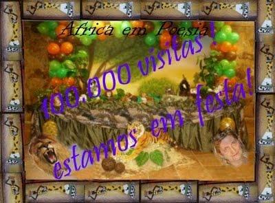 Selinho das 100.000 visitas da amiga Lili Laranjo
