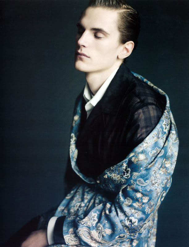 Anthon Wellsjo by Paolo Roversi for Vogue Hommes Intl, S/S 2011