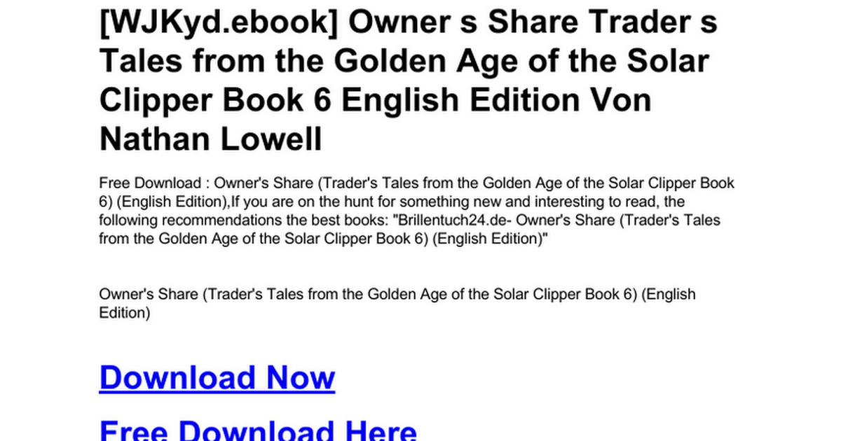 traders tales from the golden age of the solar clipper