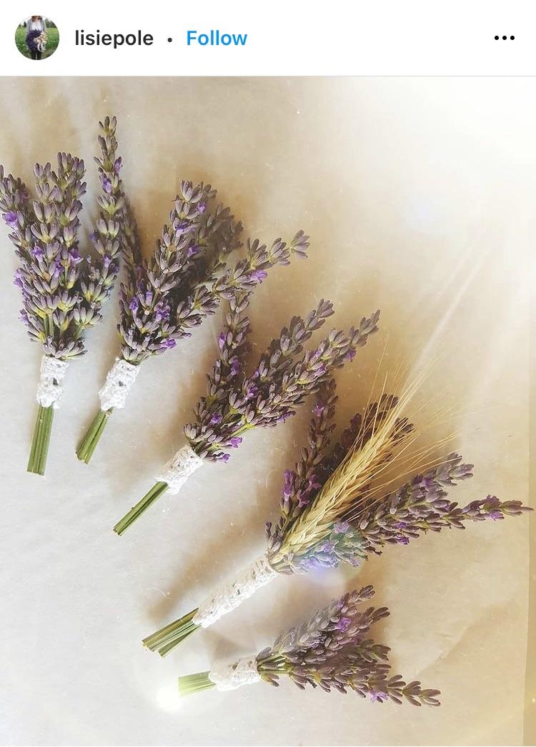 lavendar sachets wedding favor ideas