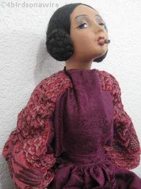 Cubeb smoker doll Parisienne boudoir doll