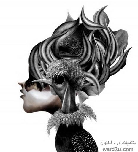 الابيض والاسود في اعمال maki kahori