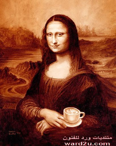 فن الرسم بالقهوه