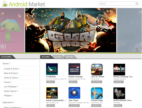 Android Market - screenshot