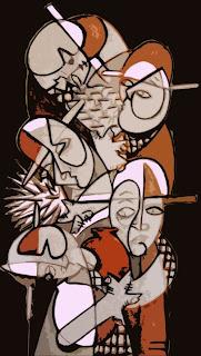 Cuadro,arte,modernista