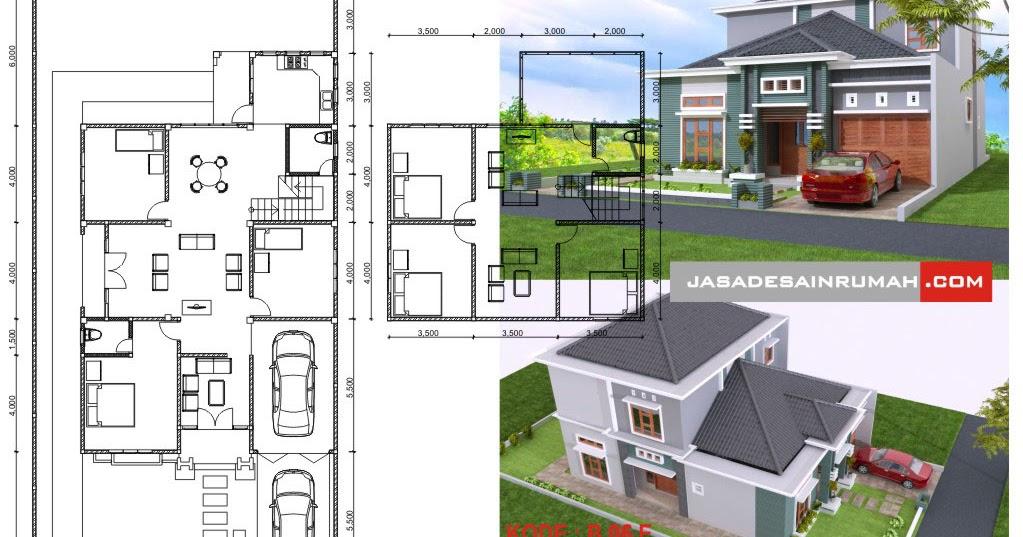 Desain Rumah Ukuran 7x15 3 Kamar Rumah Xy