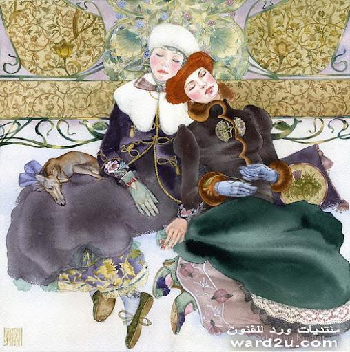 دانتيل فى لوحات ماشا جورباتوف