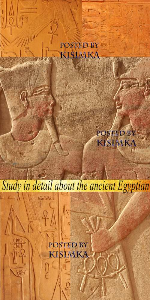 Stock Photo: Study in detail about the ancient Egyptian