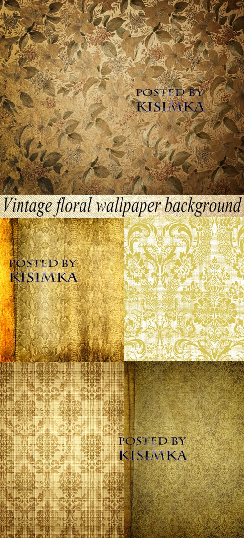 vintage floral wallpaper. Stock Photo: Vintage floral