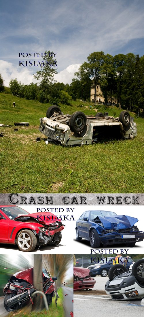 Stock Photo: Crash car wreck