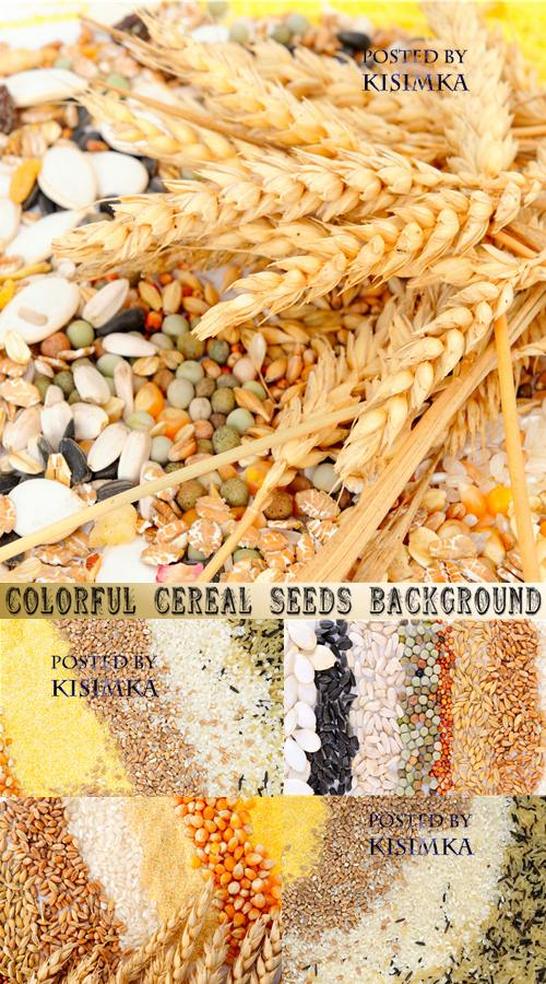Stock Photo: Colorful cereal seeds background