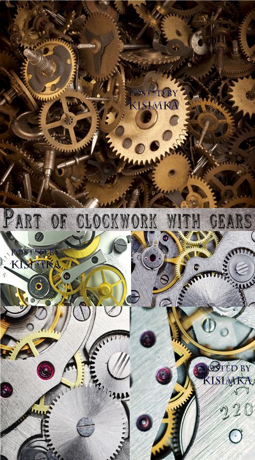 Stock Photo: Part of clockwork with gears
