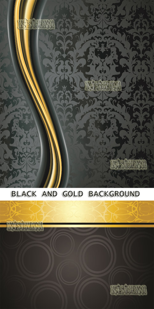 Stock: Elegant black and gold background 4