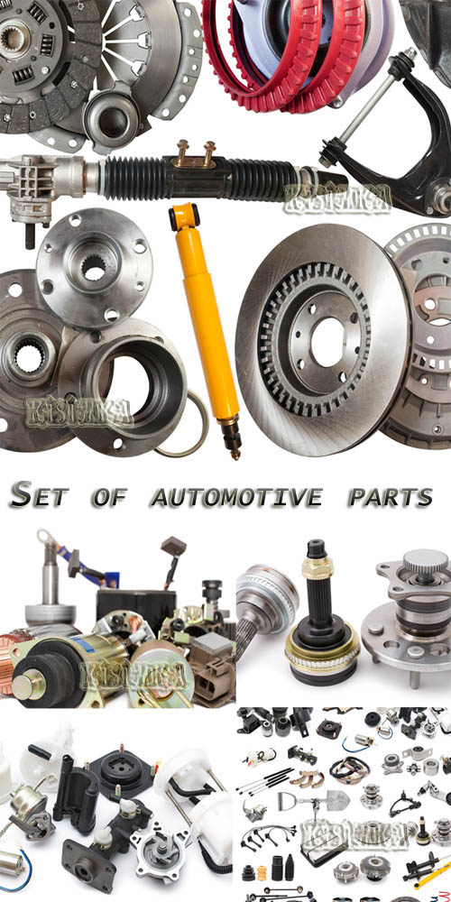 Stock Photo: Set of automotive parts