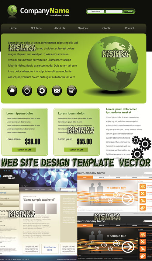 Stock: Web site design template, vector