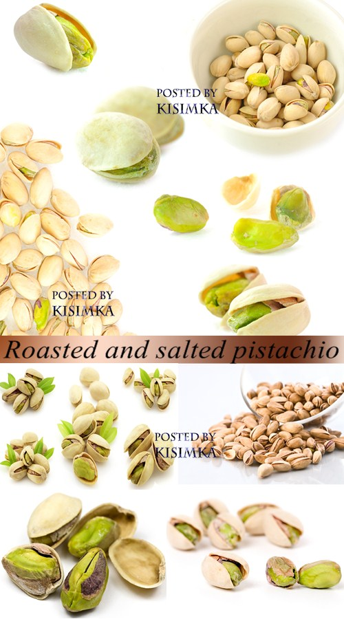 Stock Photo: Roasted and salted pistachio